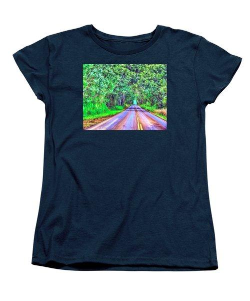 Tree Tunnel Kauai Women's T-Shirt (Standard Cut) by Dominic Piperata
