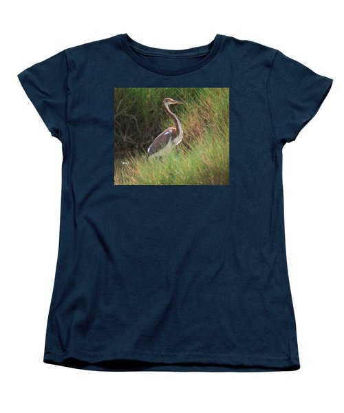 Women's T-Shirt (Standard Cut) featuring the photograph Tri-color Heron by Leticia Latocki