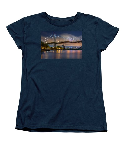 Women's T-Shirt (Standard Cut) featuring the photograph Triboro Bridge by Mihai Andritoiu
