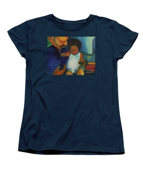 Women's T-Shirt (Standard Cut) featuring the painting Trina Baby by Daun Soden-Greene