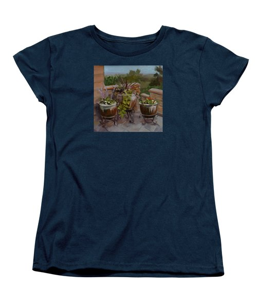 Women's T-Shirt (Standard Cut) featuring the painting Trio by Pattie Wall