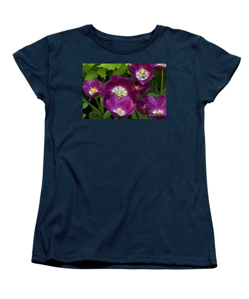 Triumph Tulips Negrita Variety Women's T-Shirt (Standard Cut) by Byron Varvarigos