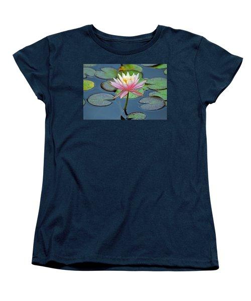 Tropical Pink Lily Women's T-Shirt (Standard Cut) by Cynthia Guinn