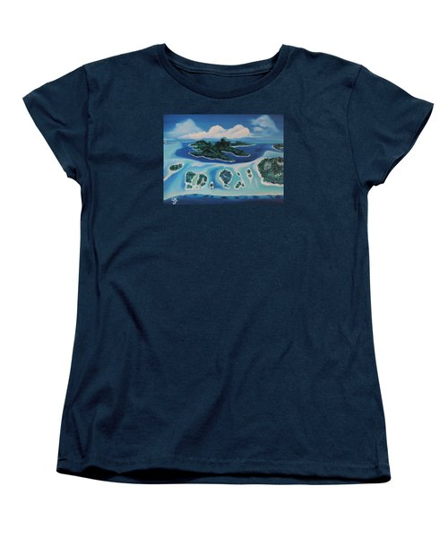 Women's T-Shirt (Standard Cut) featuring the painting Tropical Skies by Dianna Lewis