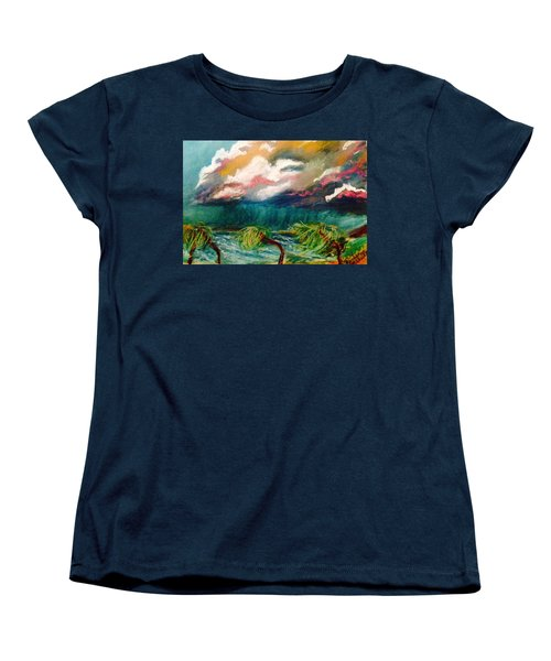 Tropical Storm Women's T-Shirt (Standard Cut) by Renee Michelle Wenker