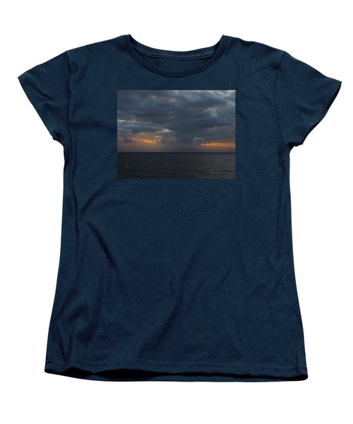 Women's T-Shirt (Standard Cut) featuring the photograph Troubled Skies by Jennifer Wheatley Wolf