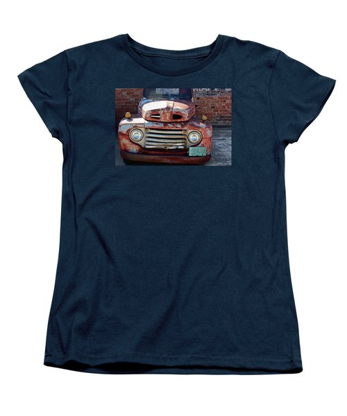 Women's T-Shirt (Standard Cut) featuring the photograph Ford In Goodland by Lynn Sprowl
