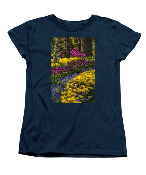 Tulip Beds Women's T-Shirt (Standard Cut) by Sonya Lang