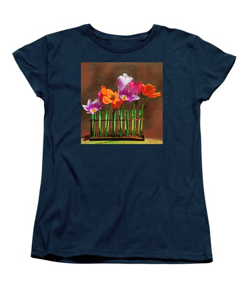 Tulip Experiments Women's T-Shirt (Standard Cut) by Jeff Burgess