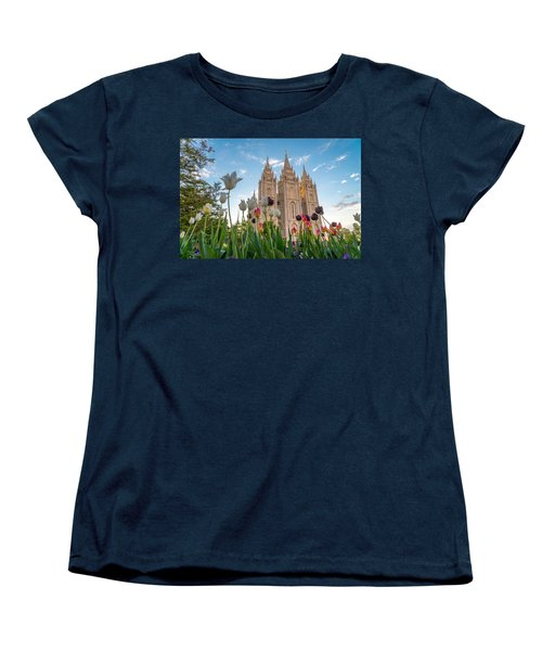 Tulips At The Temple Women's T-Shirt (Standard Cut) by Dustin  LeFevre