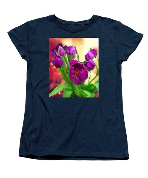 Tulips Women's T-Shirt (Standard Cut) by Carlos Avila