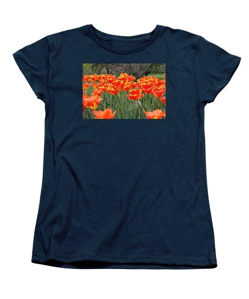 Tulips From Brooklyn Women's T-Shirt (Standard Cut) by John Telfer