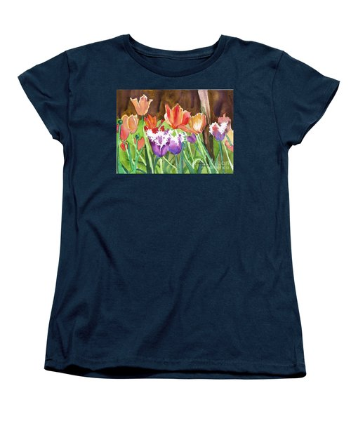 Tulips In Spring Women's T-Shirt (Standard Cut) by Yolanda Koh