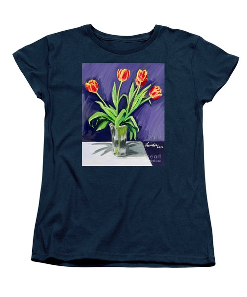 Tulips On The Table Women's T-Shirt (Standard Cut)