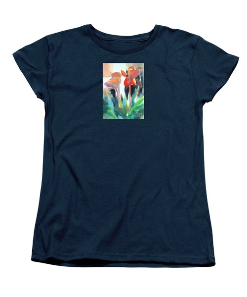 Women's T-Shirt (Standard Cut) featuring the painting Tulips Together by Kathy Braud
