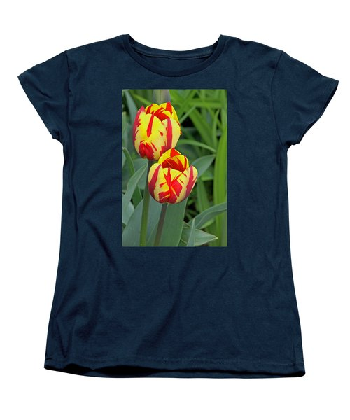 Tulips Women's T-Shirt (Standard Cut) by Tony Murtagh