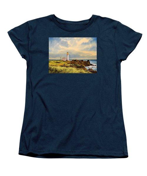 Turnberry Golf Course 9th Tee Women's T-Shirt (Standard Cut) by Bill Holkham