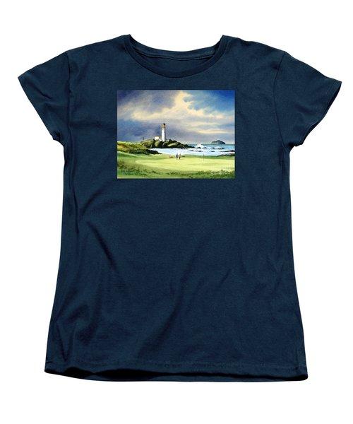 Turnberry Golf Course Scotland 10th Green Women's T-Shirt (Standard Cut) by Bill Holkham