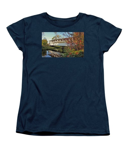 Women's T-Shirt (Standard Cut) featuring the photograph Turner's Covered Bridge by Suzanne Stout