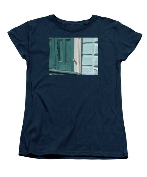 Women's T-Shirt (Standard Cut) featuring the photograph Turquoise Door by Valerie Reeves