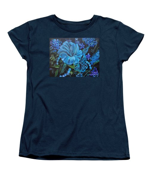 Turquoise Hibiscus Women's T-Shirt (Standard Cut)
