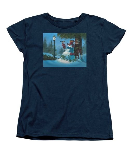 Women's T-Shirt (Standard Cut) featuring the painting Tweet Dreams by Michael Humphries