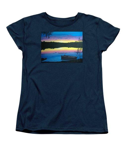 Twilight Quiet Time Women's T-Shirt (Standard Cut) by Norm Starks