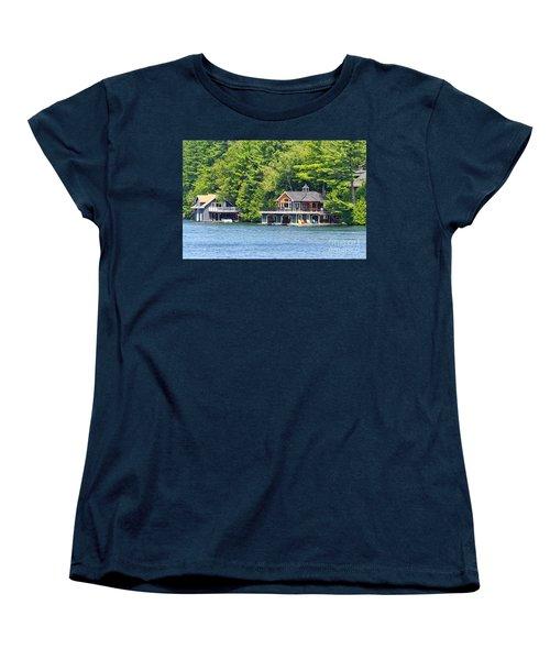 Two Luxury Boathouses Women's T-Shirt (Standard Cut) by Les Palenik