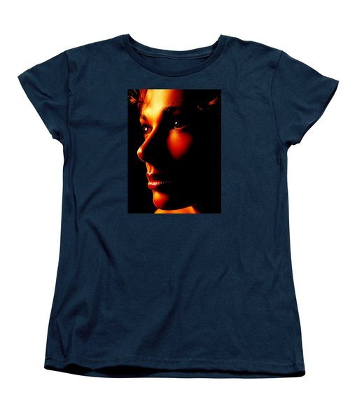 Two Tone Portrait Women's T-Shirt (Standard Cut) by Richard Thomas