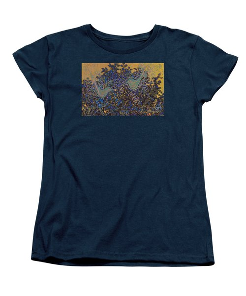 Two Turtle Doves In A Pear Tree Women's T-Shirt (Standard Cut) by First Star Art