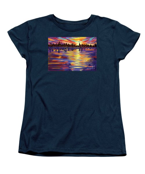 Women's T-Shirt (Standard Cut) featuring the painting Tyler's Sunrise by Tim Gilliland