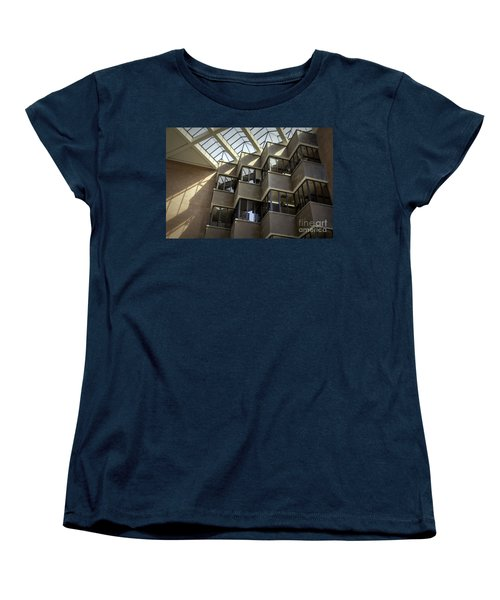 Uf Marston Science Library Accordian Window Wall Women's T-Shirt (Standard Cut) by Lynn Palmer