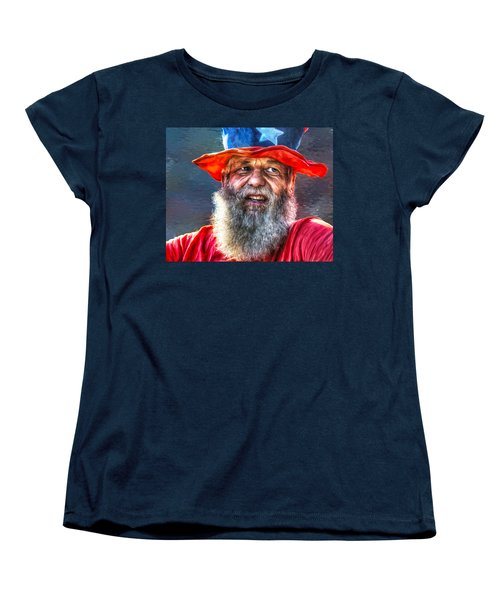 Uncle Sam Women's T-Shirt (Standard Cut) by Rick Mosher