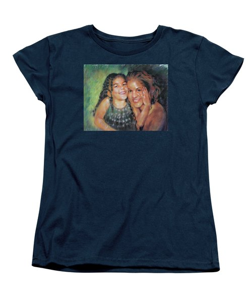 Women's T-Shirt (Standard Cut) featuring the drawing Unconditional Love by Viola El
