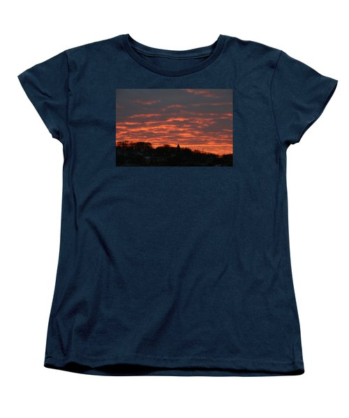 Women's T-Shirt (Standard Cut) featuring the photograph Under A Blood Red Sky by Neal Eslinger