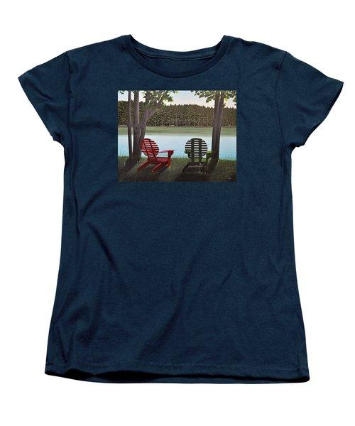 Under Muskoka Trees Women's T-Shirt (Standard Cut) by Kenneth M  Kirsch