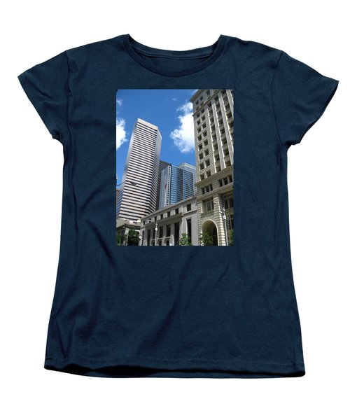 Under Seattle Blue Women's T-Shirt (Standard Cut) by David Trotter