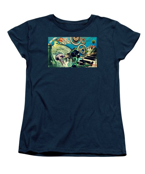 Women's T-Shirt (Standard Cut) featuring the digital art Underwater Dreams by Ally  White