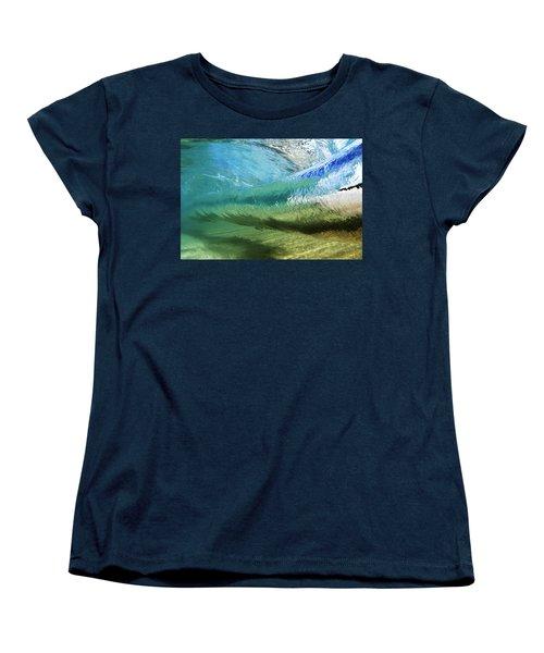 Underwater Wave Curl Women's T-Shirt (Standard Cut) by Vince Cavataio - Printscapes