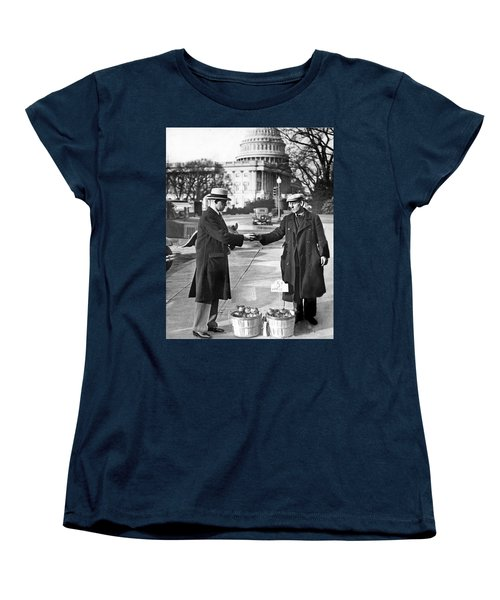 Unemployed Man Sells Apples Women's T-Shirt (Standard Cut) by Underwood Archives