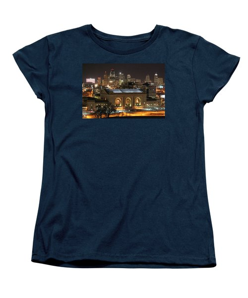 Union Station At Night Women's T-Shirt (Standard Cut) by Lynn Sprowl