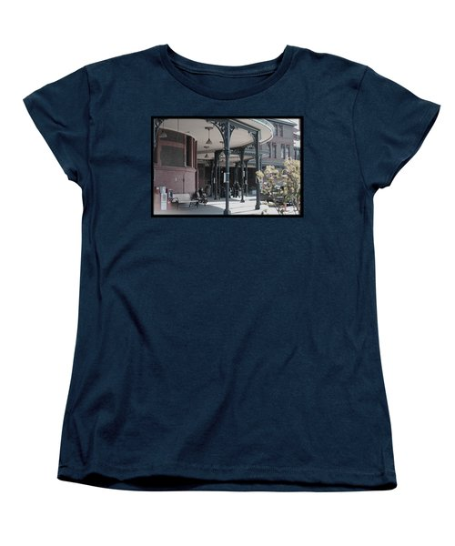 Women's T-Shirt (Standard Cut) featuring the photograph Union Street Station by Patricia Babbitt