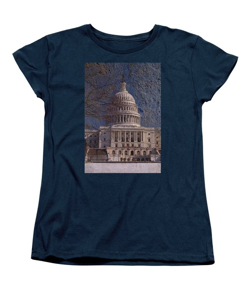 United States Capitol Women's T-Shirt (Standard Cut) by Skip Willits