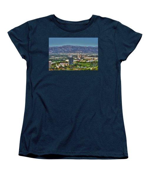 Universal City Warner Bros Studios Clear Day Women's T-Shirt (Standard Cut) by David Zanzinger
