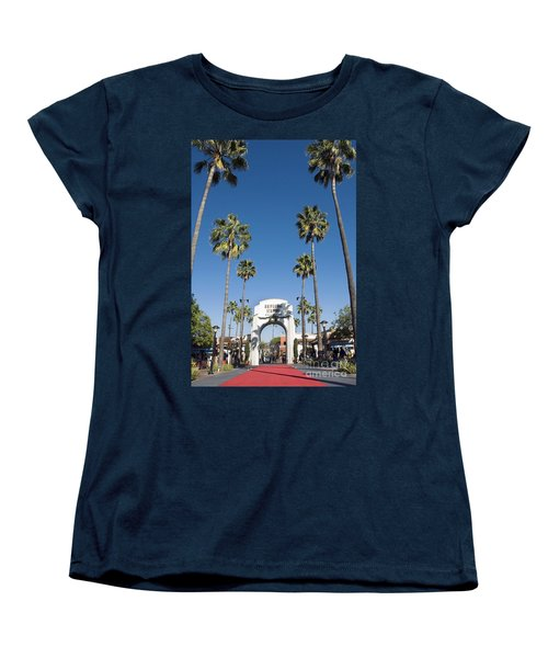 Universal Studios Red Carpet Women's T-Shirt (Standard Cut) by David Zanzinger