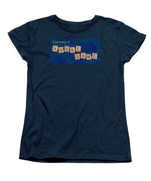 University Of Notre Dame Women's T-Shirt (Standard Cut) by Sandy MacGowan