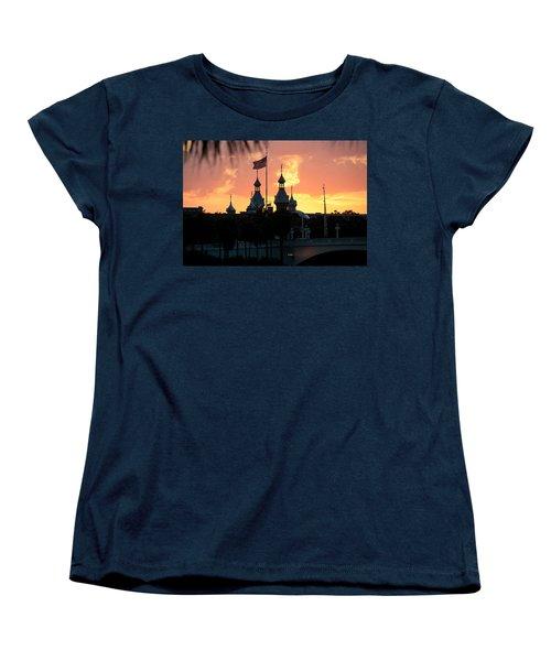 University Of Tampa Minerets At Sunset Women's T-Shirt (Standard Cut)