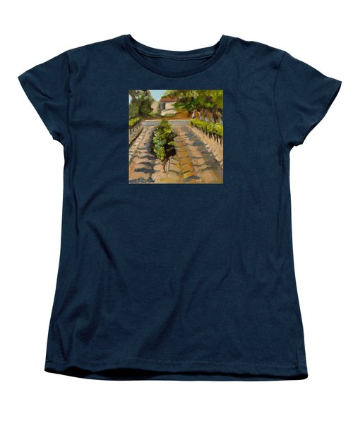 Women's T-Shirt (Standard Cut) featuring the painting Unparalleled Richness by Pattie Wall