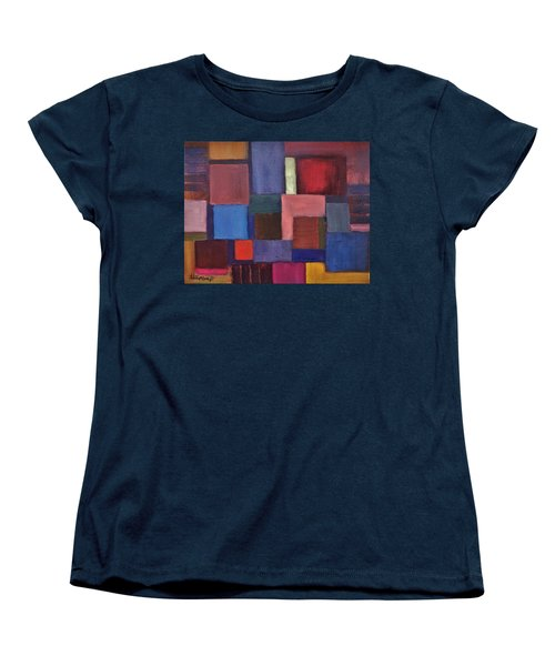 Women's T-Shirt (Standard Cut) featuring the painting Untitled #7 by Jason Williamson