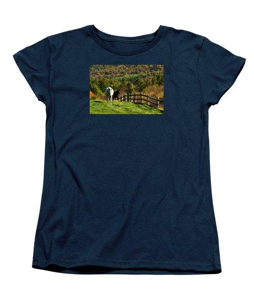 Women's T-Shirt (Standard Cut) featuring the photograph Up The Hill by Joan Davis